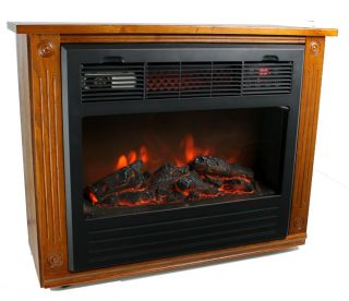 New Lifesmart LS FP1500 1500 Watt Infrared Quartz Electric Fireplace