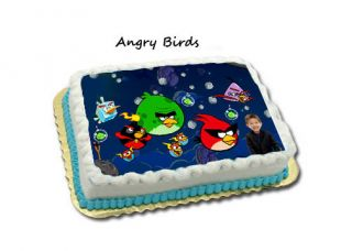 Angry Birds in Space Birthday Cake Designs Invitations