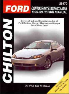 Ford Contour Mercury Cougar Mystique Repair Shop Manual 1995 1996 1997