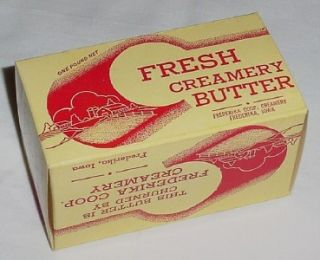 fresh creamery butter unused carton frederika ia