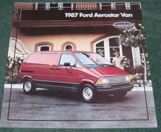1987 Ford Aerostar Cargo Van Large 18 Page Brochure