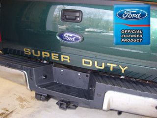 2012 Ford F250 Super Duty Tailgate Letter Insert Decals