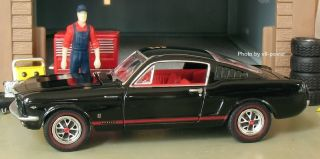 1966 Ford Mustang GT Fastback Opening Hood w 289 V8 RRs 1 64 Diecast 1