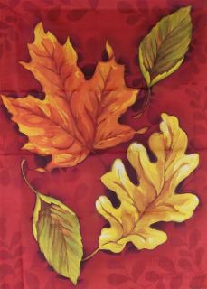 Fall Autumn House Flag Decorative Colorful Leaves Leaf Large Porch 28