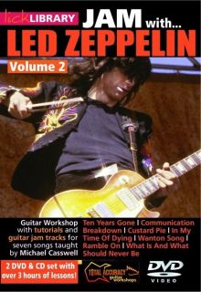 Jam with LED Zeppelin Lick Library Volume 2 DVD CD