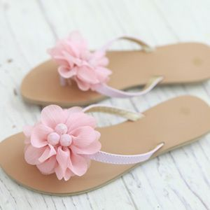 Women Flower Sandals Flip Flops Flat Slippers Beach Shoes 3 Colors