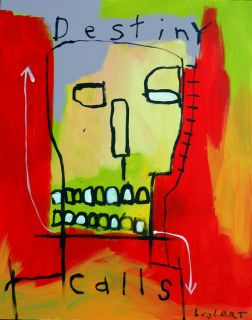 Basquiat Inspired Hughart Outsider Modern Art Painting