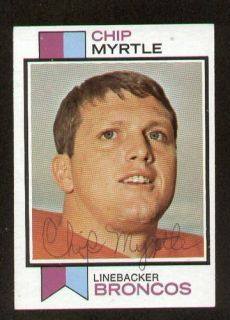Myrtle Signed Autograph Auto 1973 Topps Football Trading Card