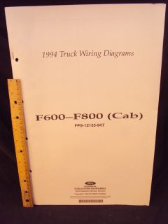 1994 Ford F600 Truck Electrical Wiring Diagrams Manual