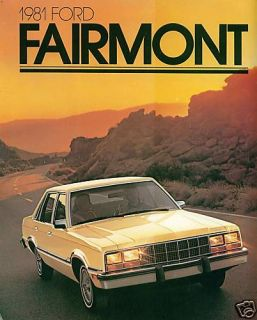 1981 Ford Fairmont and Futura 16 Page Brochure Nice