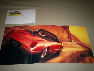 Ford Thunderbird Sales Brochure Poster and Post Card Summer 2001