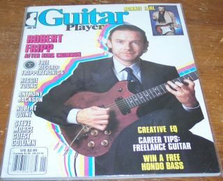 GUITAR PLAYER MAGAZINE JANUARY 1986 ROBERT FRIPP