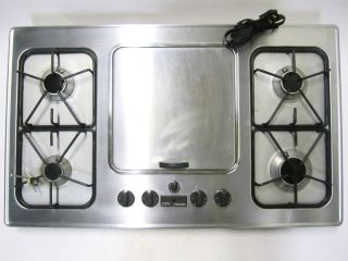 36g 36 Cooktop Range Top w 4 Gas Burner Electric Griddle Grill