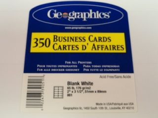 Blank White Printable Business Cards Geographics Y84