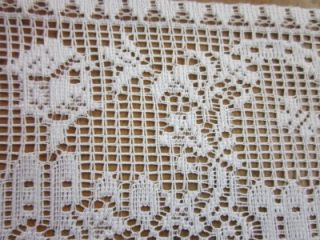 USA White Garden Archway Bird House Lace Trim Ribbon 4 Fabric 1 Yard