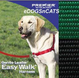 Gentle Leader Easy Walk Harness Dog Green Black Petite
