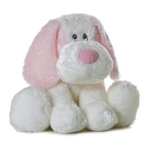 Aurora Baby Plush Pink White Puppy Dog Dafney Stuffed Animal Toy
