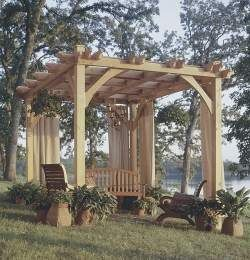 Build to Suit Pavilion Pergola Plans Trellis Arbor S