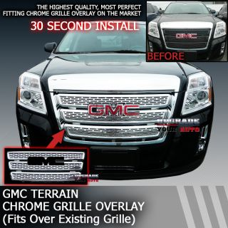 2010 2013 GMC Terrain Chrome Insert Grille (1 PIECE GRILLE OVERLAY)