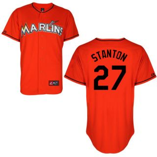 Mike Giancarlo Stanton Miami Marlins Florida Adult Orange Alt Replica
