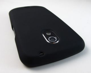 Black Rubberized Hard Case Cover Samsung Google Galaxy Nexus Phone