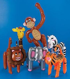 Animals Safari Party Favor Decor Elephant Zebra Giraffe Monkey