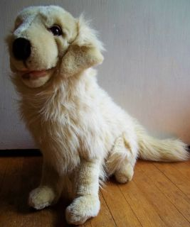REALISTIC stuffed animal GOLDEN RETRIEVER plush LIFELIKE puppy dog TOY