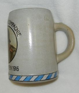1916 WW1 Vintage IMPERIAL GERMAN ARMY 3. FELDPIONIER REGIMENTAL STEIN