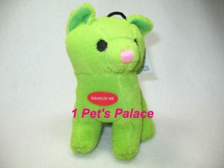 Plush Green Kitty Dog Toy Toys Pet Puppy Cat Poodle
