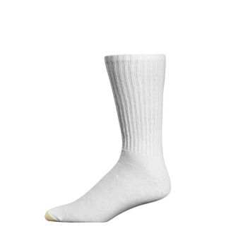 Gold Toe Mens Socks Ultratec Cotton Extended XL Crew White 3 Pairs