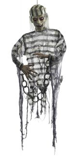 Convict Hanging Lifesize Haunted House Halloween Prop Yard Door Garden