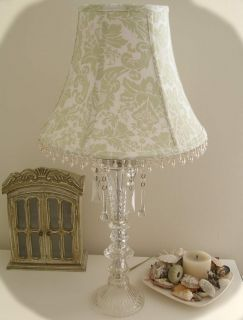 Stunning Simply Shabby Chic Crystal Glass Table Lamp Ashwell