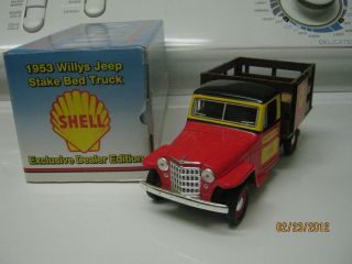 1953 Willys Jeep Stake Bed Truck Shell Oil 1 25 Scale