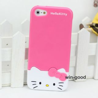 Girl Fashion Candy Bow 3D Hello Kitty Hard Back Case Cover for iPhone