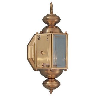 Sea Gull Lighting Classic Outdoor Wall Lantern in Brushed Nickel