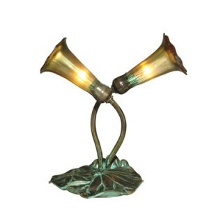 Dale Tiffany 11.5 Lily Two Light Accent Table Lamp in Antique Bronze