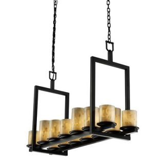 Design Group Alabaster Rocks Dakota 14 Light Chandelier   ALR 8769