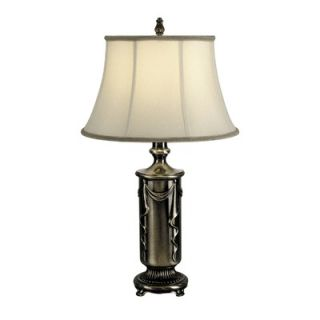 Dale Tiffany 28 One Light Table Lamp in Antique Pewter