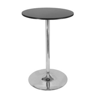 Winsome Black Chrome Pub Table
