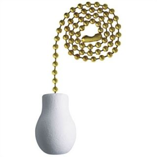 Westinghouse Lighting White Wood Knob Ceiling Fan Pull Chain