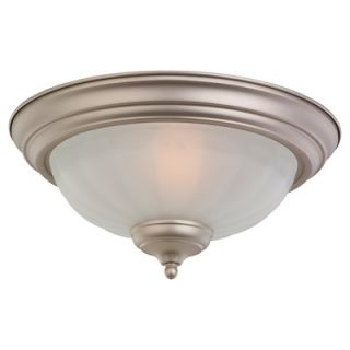 Monte Carlo Fan Company Two Light Frosted Melon Bowl Ceiling Fan Light