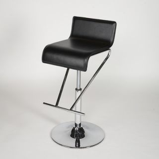 Chintaly Adjustable Swivel Stool in Black   6122 AS BLK
