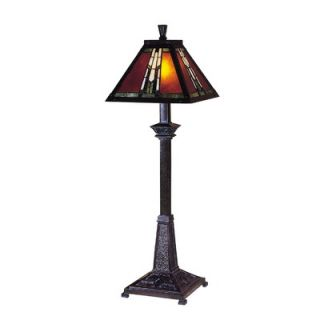 Dale Tiffany Amber Monarch Buffet Lamp in Mica Bronze   TB100715
