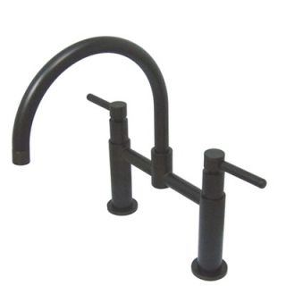 Elements of Design Double Handle Widespread Bridge Faucet