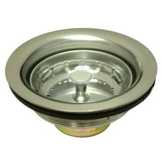 Elements of Design Stainless Steel Basket Strainer in Brushed Nickel