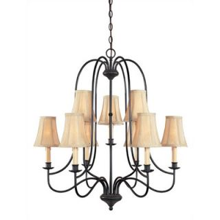 World Imports Lighting Metalcraft 9 Light Chandelier