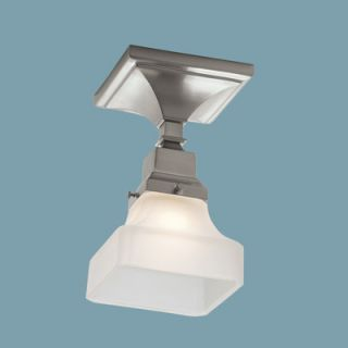 Norwell Lighting Birmingham 1 Light Semi Flush Mount   8121F BN PY