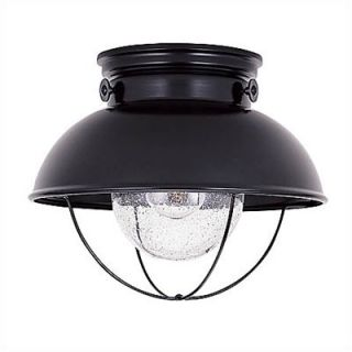 Sea Gull Lighting Sebring Outdoor Flush Mount in Black