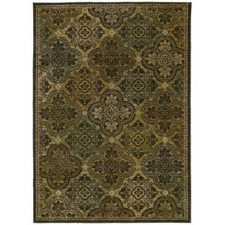 Tommy Bahama Rugs Home Nylon Dark Brown Moroccan Mosaic Rug