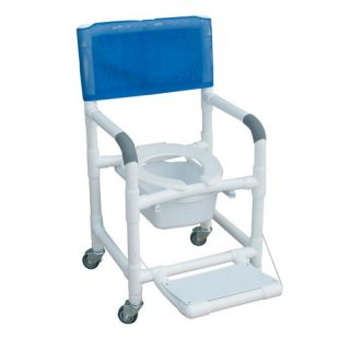 Standard Deluxe Shower Chair with Folding Footrest and Optional Acc